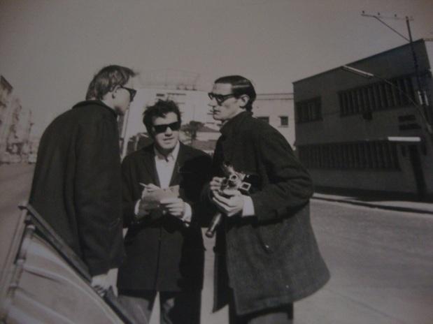 Luiz Carlos Piguini (centro) Agosto 1967